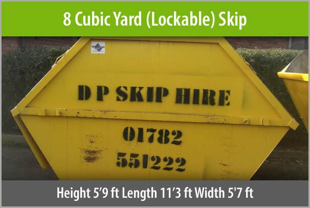 8 Cubic Yard Skip
