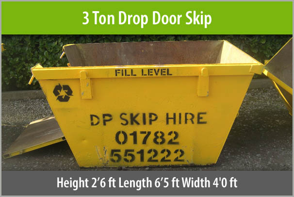 3 Ton Drop Door Skip