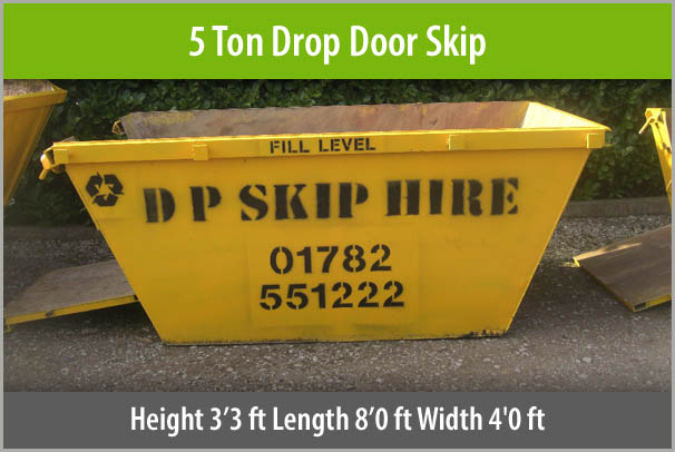 5 Ton Drop Door Skip